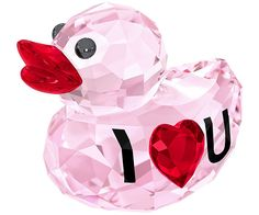 The newest member of Swarovski's Happy Duck family will certainly set hearts aflutter. Designed by Verena Castelein, this pink crystal duck has 'I ♥... Shop now