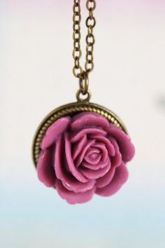 Pink Jewelry Flower Necklace