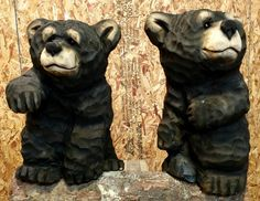 Forest Chainsaw Carving. These are couple of fun little bears they've carved up.