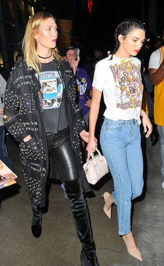 Karlie Kloss & Kendall Jenner from The Big Picture: Today's Hot Pics  The models are spotted out on the town for the Los Angeles Lakers game.