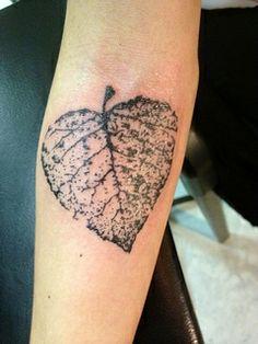 Leaf tattoo by hrwoodall, via Flickr