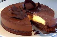 Cocina – Recetas y Consejos Chocolate And Vanilla Cake, Chocolate Delight, Sweet Recipes, Cake Recipes, Dessert Recipes, Food Texture, Chocolates, Sweet Cakes, Mousse