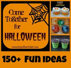 150+ Halloween ideas for kids ~ recipes, crafts, decorations, projects and more!
