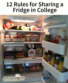 12 Rules for Sharing a Fridge with a Roommate in College – Apartment 2020 Apartment With Roommates, College Apartment Bathroom, College Bathroom Decor, College Apartments, College Dorm Rooms, Apartment Living, Studio Apartments, Small Apartments, College Fridge
