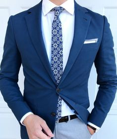 Brilliant menswear styling in a palette of navy blues, whites and grays.