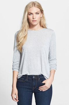 Free shipping and returns on Vince Long Sleeve Shirttail Knit Top at Nordstrom.com. A curved shirttail hem and a back-inverted pleat enhance the easy shape of an anything-but-basic marled-knit top.