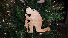 Christmas Praying Soldier Ornament Holiday by BPLaserEngraving