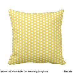Collection of throw cushions, body pillows and outdoor cushions with designs organised by color to match your decor. Yellow Throw Pillows, Throw Cushions, Outdoor Cushions, Decorative Throw Pillows, Classic Throws, Pillow Design, Polka Dots, Pattern, Model