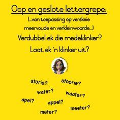 Woordsoorte - 'n maklike opsomming vir Gr. Afrikaans, Van, Names, Grade 2, Screen Shot, Education, Learning, School, Second Grade