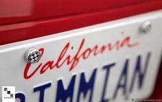 Checkered Flag Caps Shown On License Plate. -  - MINI License Plate Caps  - Photo #2
