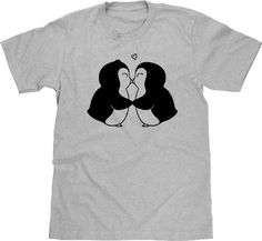 Funny Shirt Penguin Shirt, Penguin TShirt, Animal T shirt, Cute Penguin T Shirt, Funny Tee, Penguins In Love, Arctic Animal, Men Plus Size