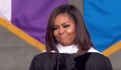 Just when Republicans thought that it couldn't get worse, First Lady Michelle Obama spoke out against everything Donald Trump represents while addressing graduates at the CCNY commencement ceremony. Michelle Obama Hairstyles, Bad Week, Barack And Michelle, Greatest Presidents, Liberal Politics, Our President, Political Views, Barack Obama, Lgbt