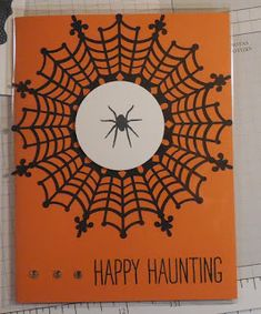 """Halloween card made with Stampin'UP!'s Spider Web Doilies and """"All Year Cheer"""" stamp set"""