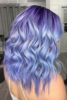 See Ya, Lavender — Periwinkle Is Our New Favorite Pastel Hair Color - Haare Stylen Cute Hair Colors, Hair Dye Colors, Cool Hair Color, Pastel Hair Colors, Lavender Hair Colors, Violet Hair Colors, Vibrant Colors, Ombre Pastel Hair, Bob Pastel