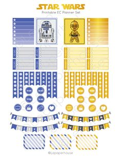Star Wars Planner imprimable autocollant Set Erin par lepaperhouse