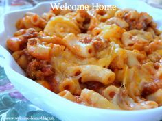 Welcome Home Blog: Beefy Mac and Cheese