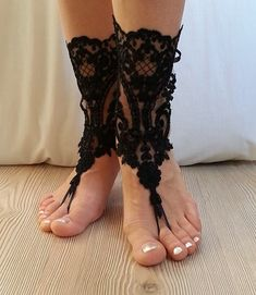 French lace barefoot sandals of good quality Choose your foot number. Flexible ankle. Ready to ship. Shipment within 24 hours after purchase, weekend 48 hours via post Office. Estimated delivery 15-20 days. customs control may extend this time. purchased with shipping upgrade for