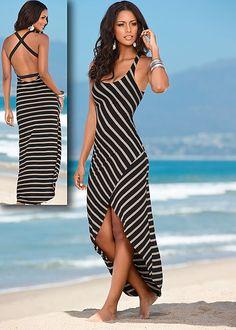 Striped maxi dress. Venus. 36.