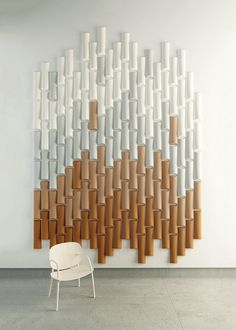 Felt decorative acoustical panels BAMBOO - Made Design Barcelona