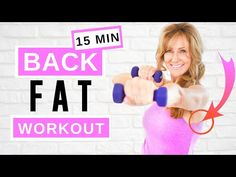 Dumbbell Back Workout, Tone Arms Workout, Back Fat Workout, Man Workout, Sprint Workout, Lose Back Fat, Fat To Fit, Lose Belly Fat, 14 Day Workouts