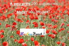 """""""À peu près"""" isn't just used with numbers. You can also use it to describe a feeling or a thought. Here are some examples of how you would insert the expression into everyday #French conversation. #learnfrench #lawlessfrench"""