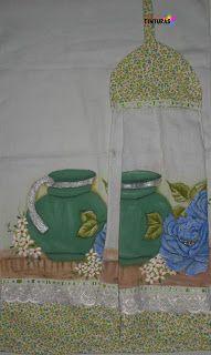 Olá meninas! Mais um modelinho de bate mão com toalha pintada á mão e decorando com tecido, bordado inglês da Circulo. Espero que gostem...
