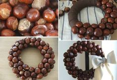 kaštany - Home Page Nature Crafts, Fall Crafts, Home Crafts, Crafts For Kids, Diy Crafts, Christmas Crafts, Christmas Decorations, Holiday Decor, Buckeye Crafts