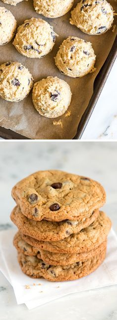 How to make the best homemade chocolate chip cookies. This easy recipe makes cookies with crisp edges and chewy middles. Plus, how to freeze cookie dough for baking later.