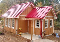 Potting Shed Interiors Backyard Studio, Backyard Retreat, Porches, Livable Sheds, Pool Shed, Shed Interior, Greenhouse Shed, Small Log Cabin, Potting Sheds