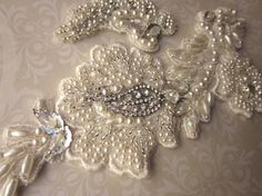 Ivory Bridal Rhinestone Applique by MagicalMysteryTuca on Etsy, $46.00