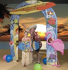 luau-party-decorations photo op  #polkadotdesign #summerparty; this is a possibility for a photo op stand