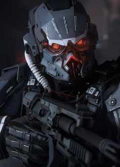 Stuff We Like Here @ ------- << Original Comment >> ------- Killzone Shadow Fall Assault Trooper by Efgeni Bischoff Futuristic Armour, Futuristic Art, Futuristic Helmet, Robot Concept Art, Armor Concept, Zbrush, Taktischer Helm, Armadura Sci Fi, Killzone Shadow Fall
