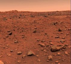 The first color picture of Mars, taken the day after Viking 1 landed on the…