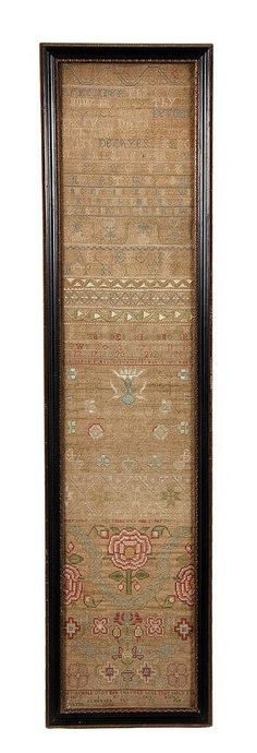 Mary Lowe 1707 - Queen Anne style sampler