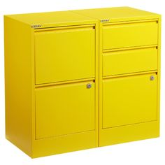 I really like the new colors of the Bisley File Cabinets. Great for your home office or kids room!