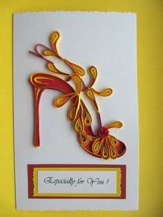 Papier Quilling Quilling Art Greeting Card anniversaire