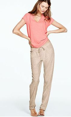 Cute lounge wear. Just because you're relaxing at home doesn't mean you have to look frumpy. Think of your boyfriend or husband...