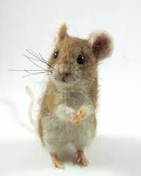 Afbeeldingsresultaat voor how to make a needle felted mouse