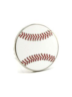 Valentine Goodies for Him Under $50:  Sports Cuff Links - If he's a sports enthusiast, get him themed cuff links like these baseballs or ones with his favorite team.