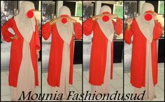 Mounia Fashiondusud on facebook - lovely finished look for hijab, abaya and overdress.