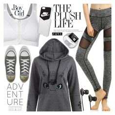 """""""Gym"""" by vanjazivadinovic ❤ liked on Polyvore featuring Converse, Boy Meets Girl, NIKE, SOL Republic, polyvoreeditorial and zaful"""
