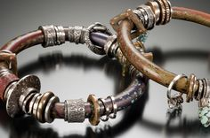 Smooth Polymer Bracelets by Celie Fago  Photo by R. Diamante