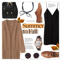 """""""Summer to Fall"""" by alexandrazeres ❤ liked on Polyvore featuring T By Alexander Wang, 81hours, Gap, Michael Kors, Gucci, autumn, layering and summertofall"""