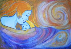 Maternità. Acrilico su tela. 2011.