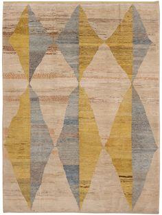 Old Yarn Rug- Loom