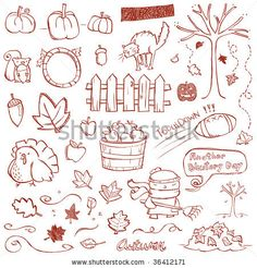 Autumn Doodles by Erica Truex, via Shutterstock