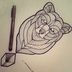 Risultati immagini per bear tattoo sketch
