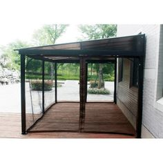 10 X 12 Terrace Flush Gazebo With Polycarbonate Hard Top And Mosquito Netting
