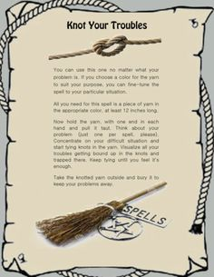 Banish Troubles Knot Spell