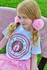 Ballet Shoes Birthday Shirt Personalized Ballerina or Dance for Girls | FUNKY MONKEY THREADS #FMT #funkymonkeythreads #balletbirthday #dancebirthday